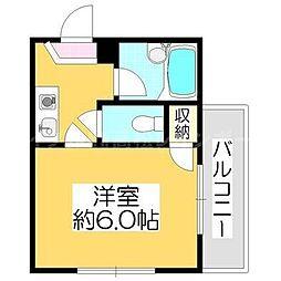 香川県高松市宮脇町2丁目の賃貸マンションの間取り