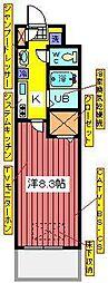 埼玉県川口市西青木1の賃貸マンションの間取り