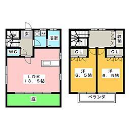 [一戸建] 岐阜県岐阜市下西郷3丁目 の賃貸【/】の間取り