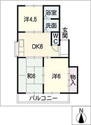 オアシス・二ヶ崎[2階]の間取り