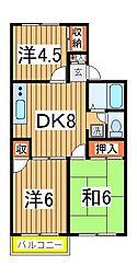 サンシティ岡本[101号室]の間取り