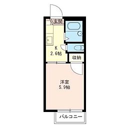 カ−サ石神井公園[1階]の間取り