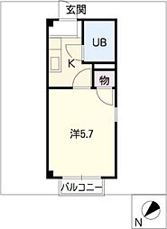 メゾンドバウハウス[1階]の間取り