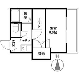 マリンコート新川[0201号室]の間取り