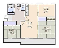 滝山第二住宅[2階]の間取り