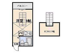 コーポ石川B棟[203号室]の間取り