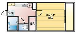 クリエール石渡壱番館[1階]の間取り