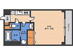 ジェンティーレ駒川 3階1Kの間取り