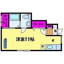 White Square A棟[1階]の間取り