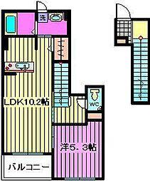 メゾン グレーシア[2階]の間取り