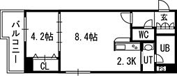 PRIME URBAN北14条[604号室]の間取り