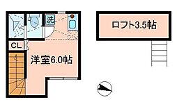 東京都板橋区板橋2丁目の賃貸アパートの間取り