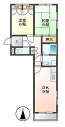 ナカソウマンション[2階]の間取り