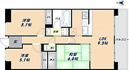 プランテーム吉田[5階]の間取り