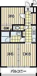 クロスアージュ[3階]の間取り