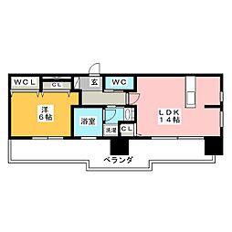 FIRST RESIDENCE SAKAE[14階]の間取り