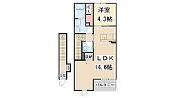 ココルアーナ・K II[2階]の間取り