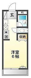 ルネッサンス宮川[203号室]の間取り
