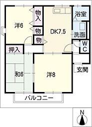 サンハイムC棟[1階]の間取り