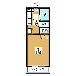 アークハイツ富田町[1階]の間取り