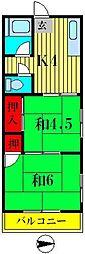 コーポ寿江[1階]の間取り
