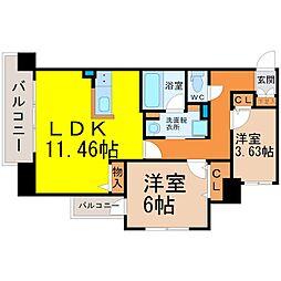 Kamiya Bldg東桜[7階]の間取り