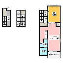アンジュ1[3階]の間取り
