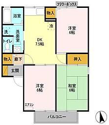 リッツハウス[2階]の間取り