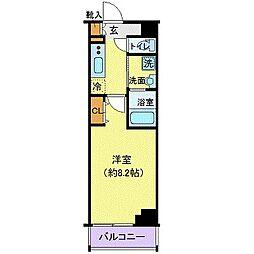 東京メトロ東西線 門前仲町駅 徒歩9分の賃貸マンション 7階1Kの間取り