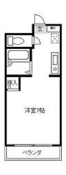 アビヤントキヨ[107号室]の間取り
