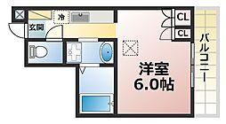 コンフォール高羽[1階]の間取り