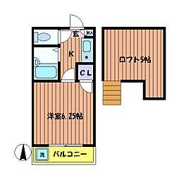 コーポアストロ[2階]の間取り