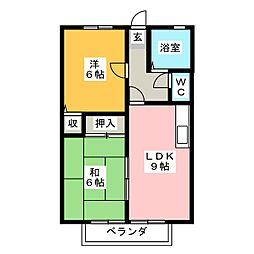 エステートピア加藤[2階]の間取り
