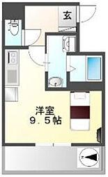 Osaka Metro中央線 阿波座駅 徒歩3分の賃貸マンション 7階ワンルームの間取り