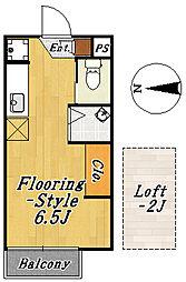 フローラ3[1階]の間取り