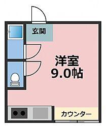 パールハイム深江橋[3階]の間取り