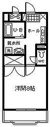 サンライズ山田[307号室]の間取り