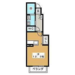 ドゥメゾンA[1階]の間取り