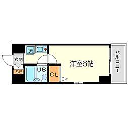 エスリード新大阪第2[5階]の間取り
