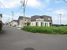 北西側道路含む現地写真
