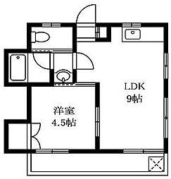 東京都世田谷区野毛1丁目の賃貸マンションの間取り
