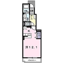 フォリアII[1階]の間取り