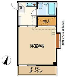EMハイツ 203[2階]の間取り