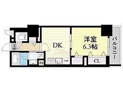 フレール江坂レジデンシャル[9階]の間取り
