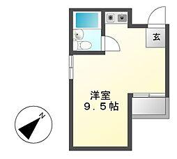 Wing香流[4階]の間取り