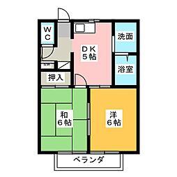メモリータウン A・B[2階]の間取り