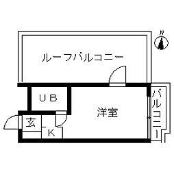 ハイシティ新宿[0302号室]の間取り