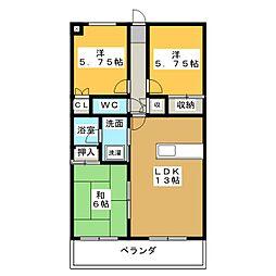 蔵屋敷マンション[2階]の間取り