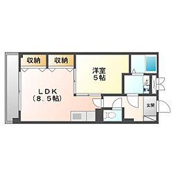 ランドノース新川崎[605号室]の間取り