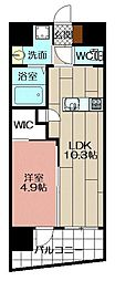 メゾン・ド・ヒロ 6階1LDKの間取り